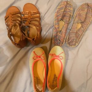 3 pairs of girls summer shoes